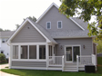 Inviting screened porch off the rear elevation of this Monmouth County, Spring Lake, NJ modular home