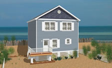 Two story open floor plan, perfect for shore living