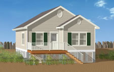 Modular home modular homes built on pilings for Modular homes on pilings