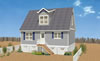 2 Bedroom modular home open floor plan, The Seagull, one level living space, Monmouth County, NJ.