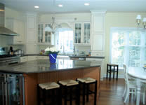 Custom kitchen and custom window from Monmounth County New Jersey's custom modular home builder.