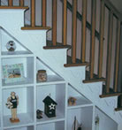 Many options are available for stairs.  There are 18 examples in the gallery.